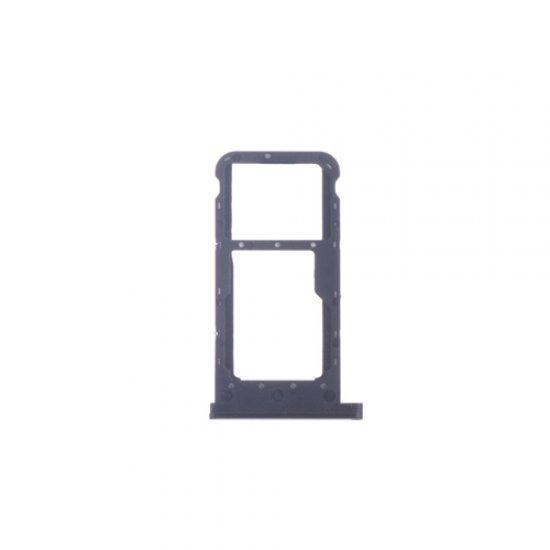 Huawei P Smart+ (Nova 3i) SIM Card Tray Black Ori (Dual Card Version)