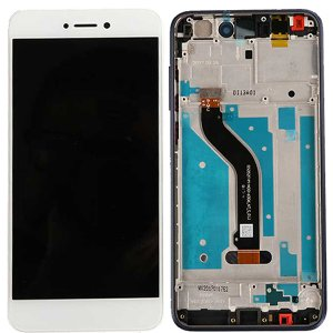 Huawei P8 Lite 2017/P9 Lite 2017 LCD Screen Replacement With Frame White HQ