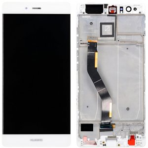 Huawei P9 Plus LCD Screen Replacement With Frame White HQ