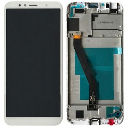 Huawei Y6 2018 LCD Screen Replacement With Frame White Ori