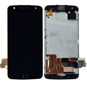 Motorola Moto Z Force LCD Screen Replacement With Frame Black Ori