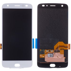 Motorola Moto Z2 Force LCD with Digitizer Assembly White Ori
