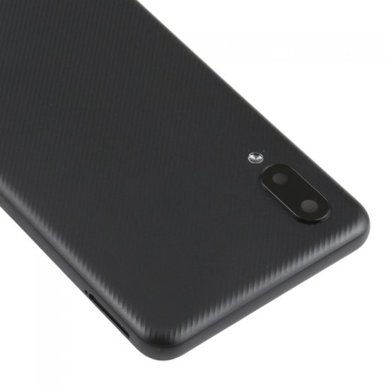 Samsung A02 Back Cover with Back Camera Lens and Bezel Black Ori