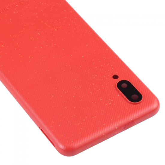 Samsung A02 Back Cover with Back Camera Lens and Bezel Red Ori