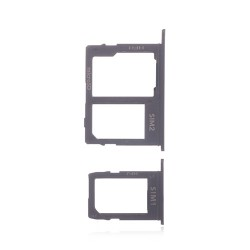 Samsung Galaxy J4 Plus/J6/J8 SIM&SD Card Tray (Dual Card Version) Black Ori