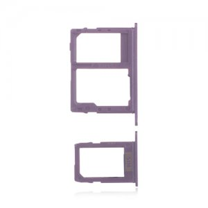 Samsung Galaxy J4 Plus/J6/J8 SIM&SD Card Tray (Dual Card Version) Purple Ori