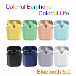 InPods 12 5.0 Bluetooth Earphone Wireless Colorful i12 Stereo Earbud Headset With Charging Box for iPhone and Android Phones