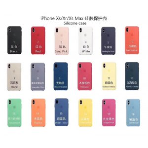 For iPhone X/XS/XR/XS Max Official Case with LOGO Silicon Case 1:1