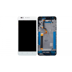 HTC Desire 10 Lifestyle LCD Screen With Frame  White