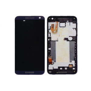 HTC Desire 610 White LCD Screen With Frame Blue