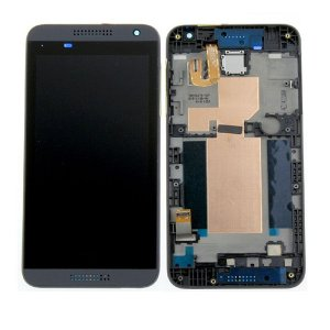 HTC Desire 610 White LCD Screen With Frame Black