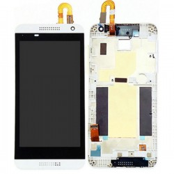 HTC Desire 610 White LCD Screen With Frame White