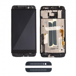 HTC One (E8) LCD Screen With Frame Black