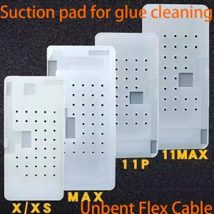 Suction Glue Cleaning Silicone Rubber Mat Pad for iPhone 11 Pro max X XS Max Unbent Flex Cable