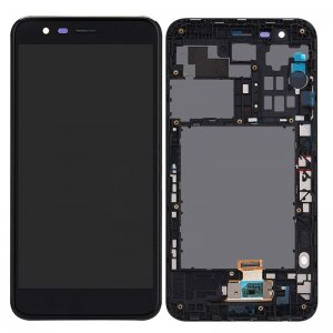 LG K10 (2018)/K11 Plus Screen Replacement With Frame Black OEM