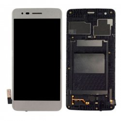 LG K8 (2017) M200/M210 LCD Screen With Frame White OEM