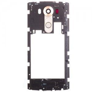 LG V10 Middle Frame With Small Parts Gold Ori
