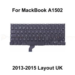 """Macbook Pro Retina 13"""" A1502  Mid 2013-Early 2015 Keyboard with Backlight UK Laylout"""