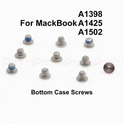 A1398 A1425 A1502 Bottom Case Screws