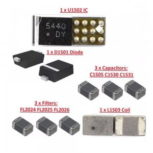9PCS/Set for iPhone 6 6 Plus Backlight Kit ic U1502+coil L1503 +diode D1501 +Capacitor C1530 c1531 C1505 filter FL2024-25 26