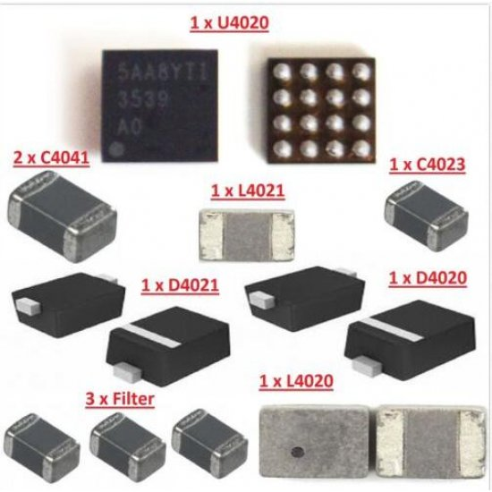 11PCS Backlight IC Set U4020 L4020 L4021 Coil D4021 D4020 diode C4041 Capacitor Filter IC FL4211 for iPhone 6S/6S Plus