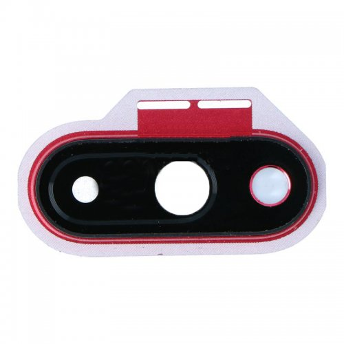 For OnePlus 7 Camera lens with Frame Red
