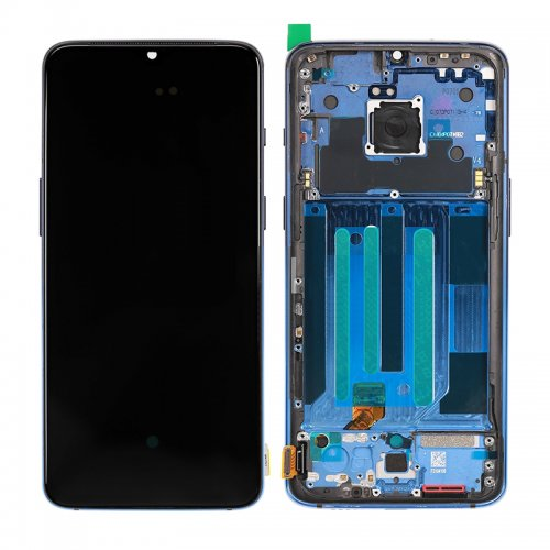 For OnePlus 7 LCD with Frame Blue