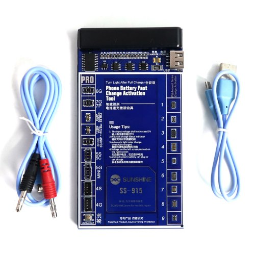 SS-915 Universal Battery Activation Board Quick Charge with USB Cable for iPhone Samsung Android HTC HUAWEI XIAOMI Phone Repair