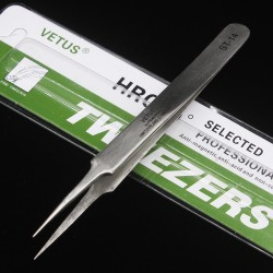 Vetus Precision Stainless Steel Tweezers ST-14
