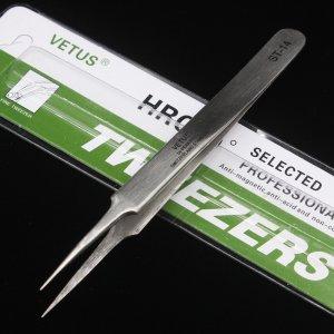 Vetus Precision Stainless Steel Tweezers ST-14