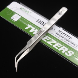 Vetus Precision Stainless Steel Tweezers ST-15