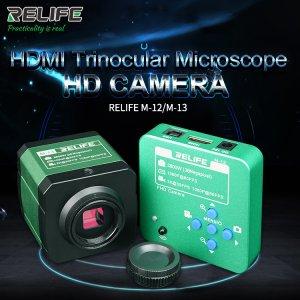 3800W Megapixel RELIFE M-12/M-13 HDMI Trinocular Microscope HD Camera