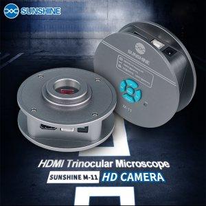 SUNSHINE M-11 HDMI Trinocular Microscope HD Camera 4800W