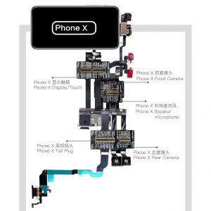 QianLi PCBA Front Camera/Rear Camera/Dock Connector/Touch Testing Cable for iPhone X