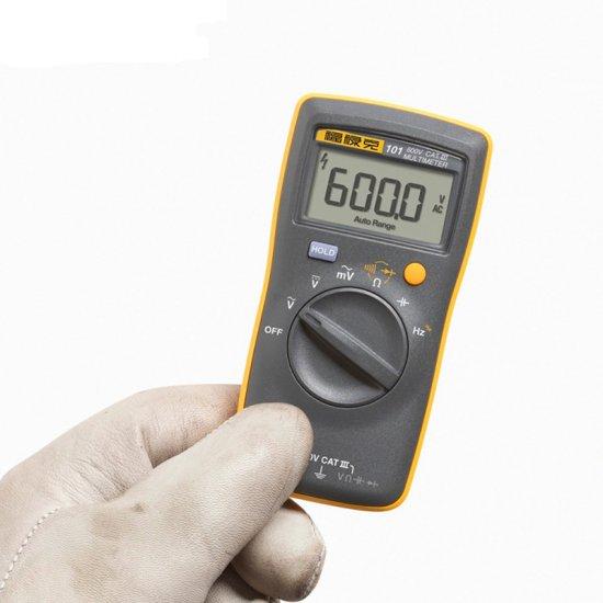 Fluke 101 Digital Multimeter Auto Range for AC/DC Voltage Resistance Capacitance Frequency Tester