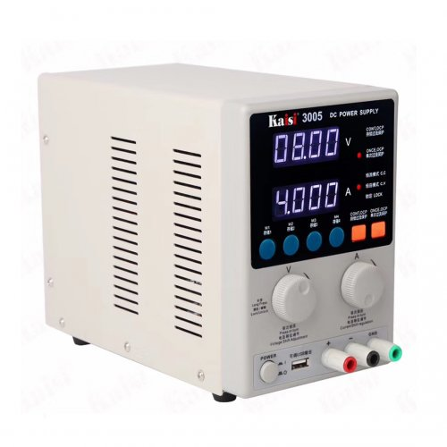 KAISI 3005 DC Regulated Power Supply Adjustable Amperometer 30V 5A Shortkiller Circuit Short Repair Welding Station 2in1 Tool