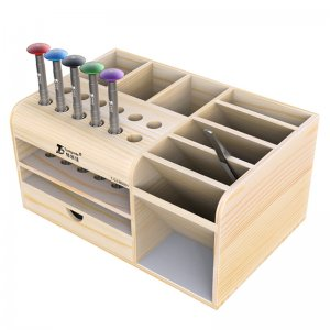 Wooden Multi-Function Screwdriver Storage Box