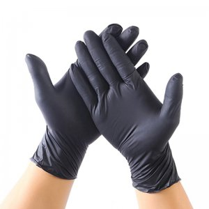 100pcs Disposable Latex Nitrile Gloves Anti Virus Rubber Black