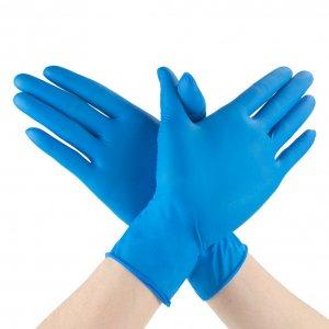 100pcs Disposable Latex Nitrile Gloves Anti Virus Rubber Blue