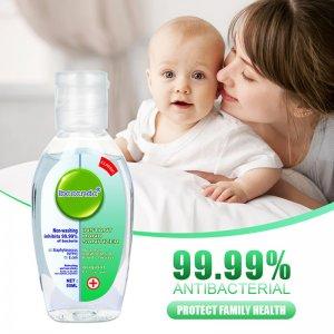 50ml Mini Portable Instant Hand Sanitizer 75% Ethanol Antibacterial Gel Disposable Waterless Hand Gel Disinfection Kids Adult