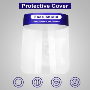 Anti-splash Protective Face Mask HD Transparent PVC Face Shield(MOQ 1000PCS)