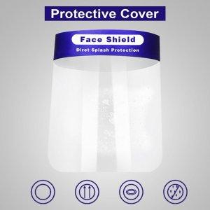 Anti-splash Protective Face Mask HD Transparent PVC Face Shield(MOQ 1000PCS)