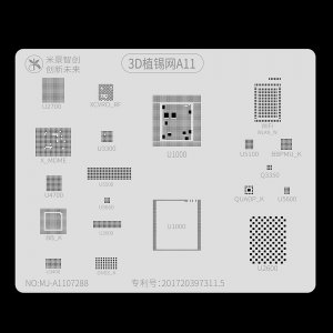 A11 Mijing 3D BGA Reballing Stencil for iPhone 8/8+/X