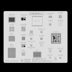 A12 Mijing 3D BGA Reballing Stencil for iPhone XS Max