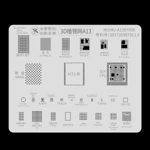 A13 Mijing 3D BGA Reballing Stencil for iPhone 11/11 Pro/11 Pro Max