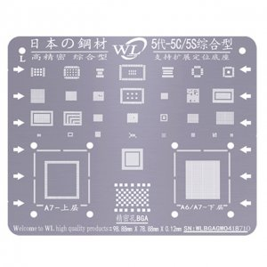 WL Universal BGA Reballing Stencil Kit Tin Mesh Solder Template for iPhone 5 5c 5s