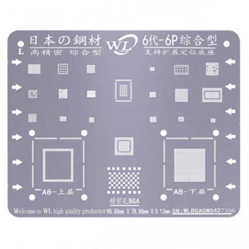 WL Universal BGA Reballing Stencil Kit Tin Mesh Solder Template for iPhone 6 6 Plus