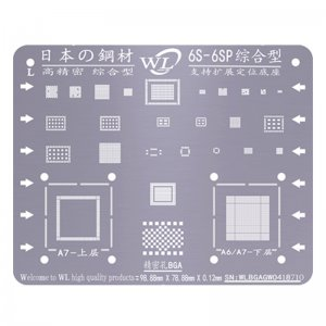 WL Universal BGA Reballing Stencil Kit Tin Mesh Solder Template for iPhone 6s 6s Plus