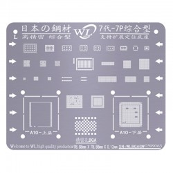 WL Universal BGA Reballing Stencil Kit Tin Mesh Solder Template for iPhone 7 7 Plus