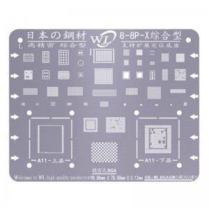 WL Universal BGA Reballing Stencil Kit Tin Mesh Solder Template for iPhone 8 8 Plus iPhone X